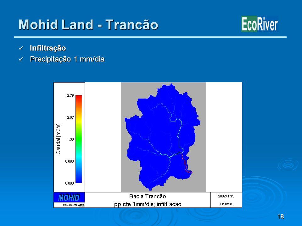 Mohid Land - Trancão Infiltração Precipitação 1 mm/dia Caudal [m3/s]